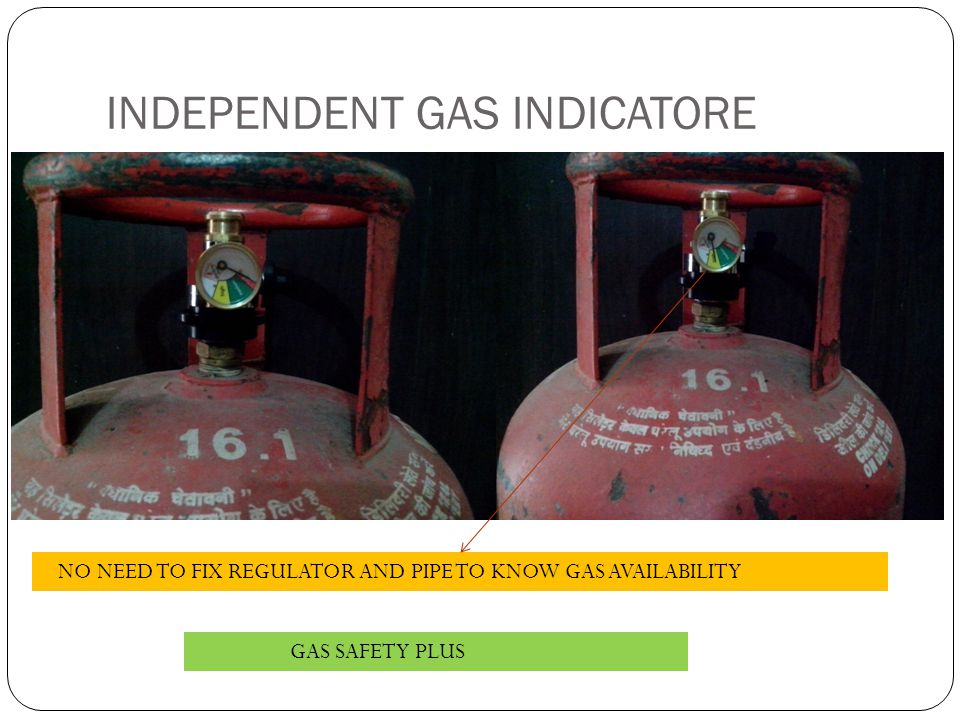 INDEPENDENT GAS INDICATORE NO NEED TO FIX REGULATOR AND PIPE TO KNOW GAS AVAILABILITY GAS SAFETY PLUS