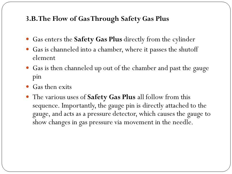3.C.How Safety Gas Plus Stops Major Leak The shutoff mechanism works on the Bernoulli principle.