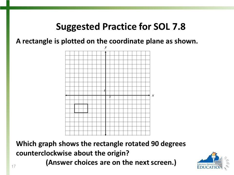 Students need additional practice dilating a figure on a coordinate plane.