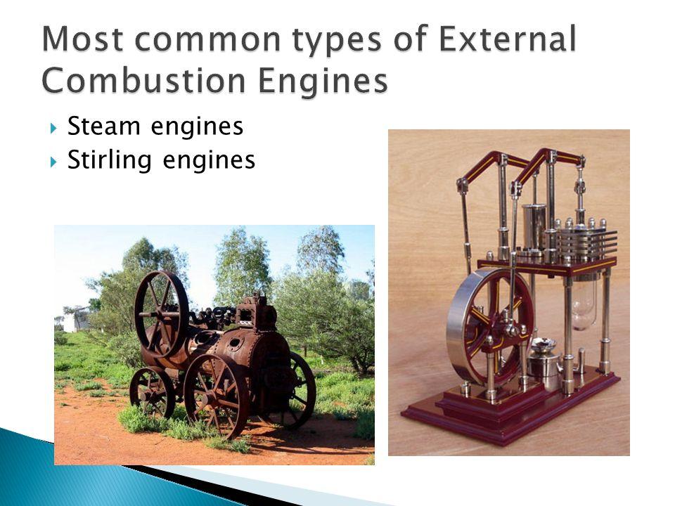 Steam engines  Stirling engines