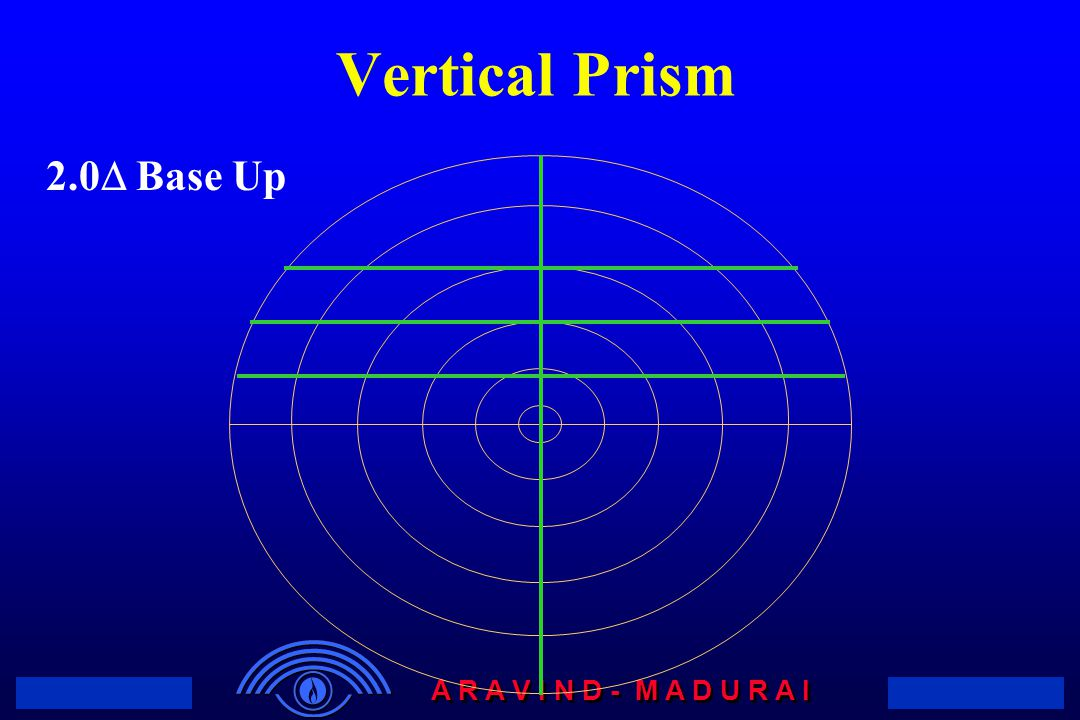 A R A V I N D - M A D U R A I 2.0  Base Up Vertical Prism