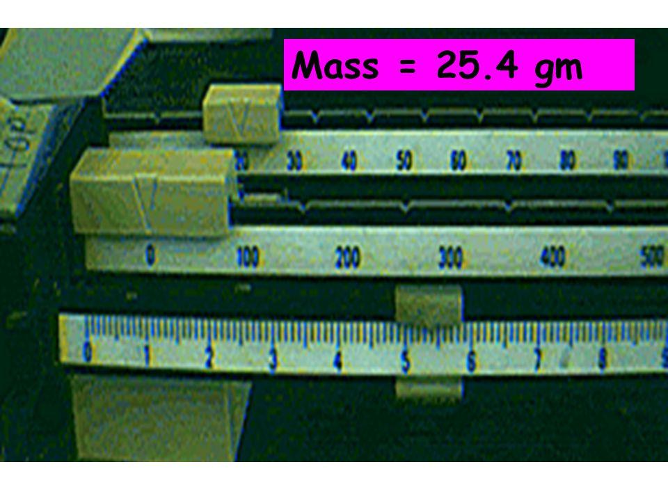 Mass = 25.4 gm