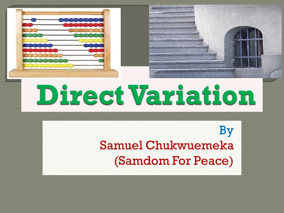 By Samuel Chukwuemeka (Samdom For Peace)