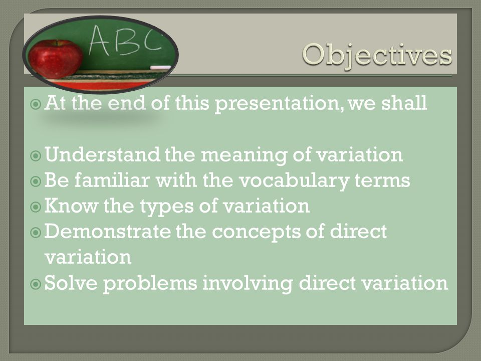 Have you ever used these words, vary, varies, variable, variability? These are the related terms.