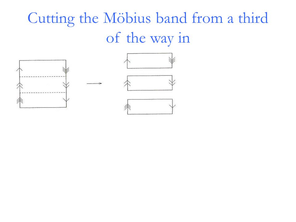 Cutting the Möbius band from a third of the way in