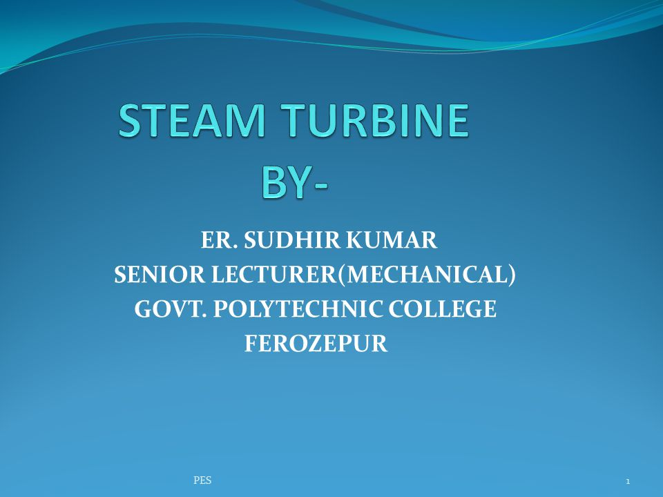 A steam turbine is a device that extracts thermal energy from pressurized steam and uses it to do mechanical work on a rotating output shaft.