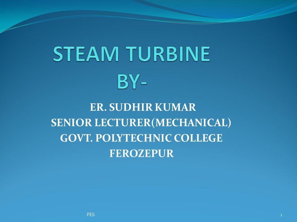 PRESSURE-VELOCITY COMPOUNDED IMPULSE TURBINE PES42