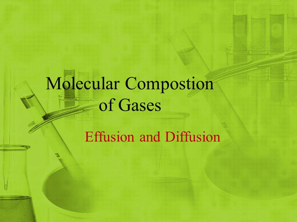 Molecular Compostion of Gases Effusion and Diffusion