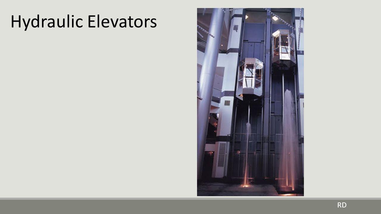 Hydraulic Elevators: Pumps provide oil pressure for lift.
