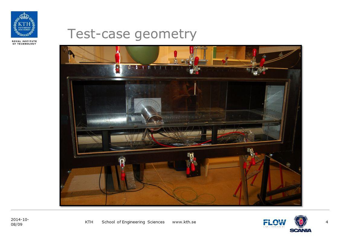 KTH School of Engineering Sciences www.kth.se4 2014-10- 08/09 Test-case geometry