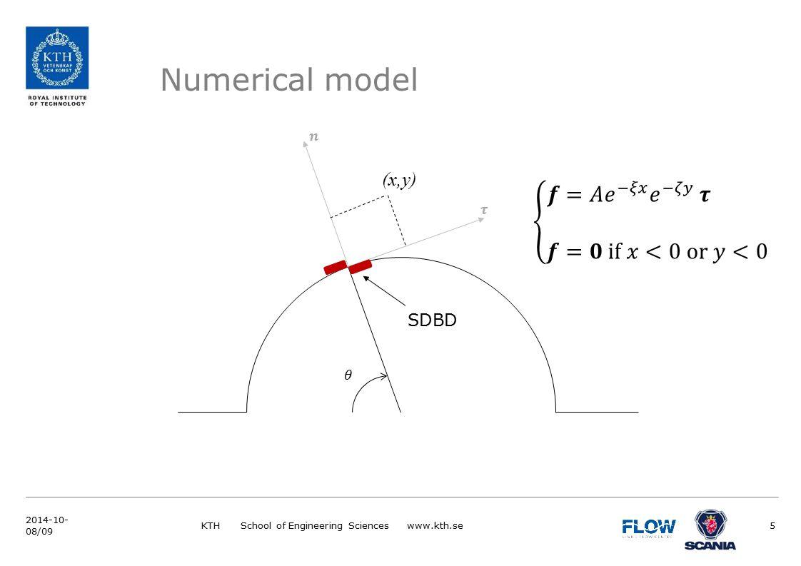 Numerical model KTH School of Engineering Sciences www.kth.se5 (x,y) SDBD 2014-10- 08/09