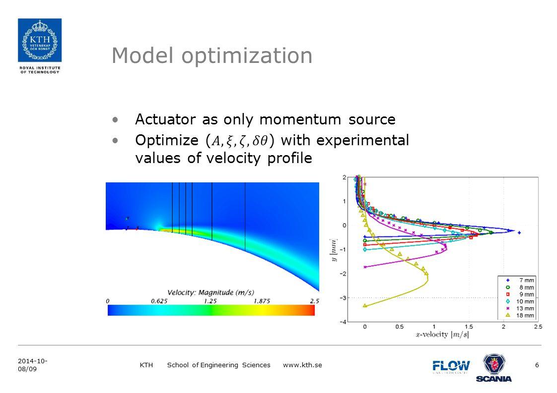 Model optimization KTH School of Engineering Sciences www.kth.se6 2014-10- 08/09