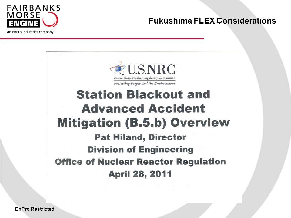 EnPro Restricted Fukushima FLEX Considerations EQUIPMENT NEEDS TO GET SMALLER Answer - MODULARIZATION