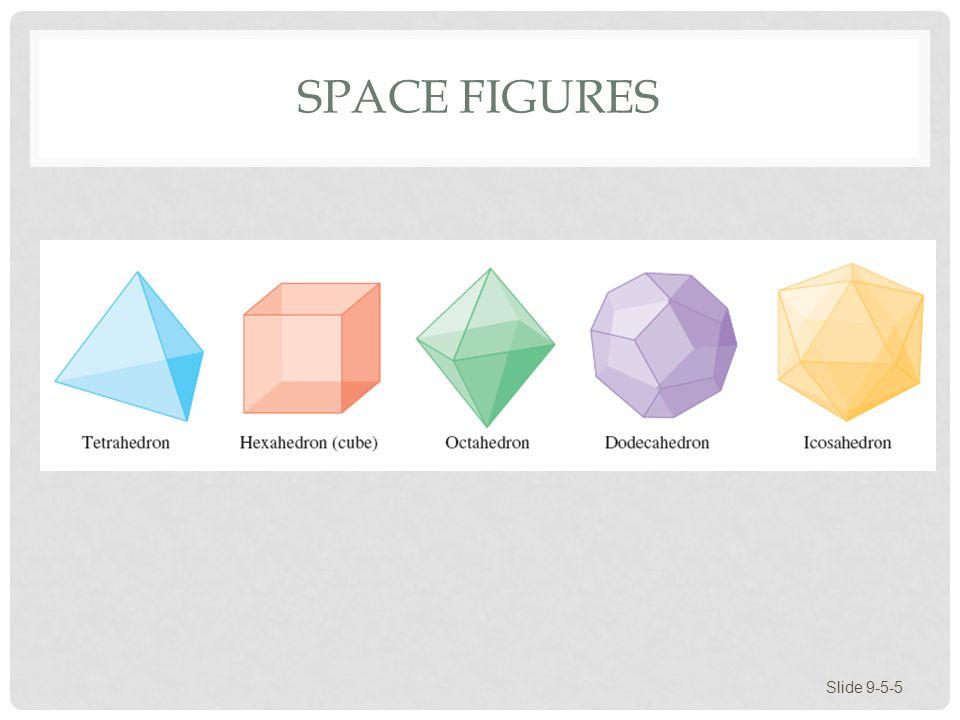 SPACE FIGURES Slide 9-5-5
