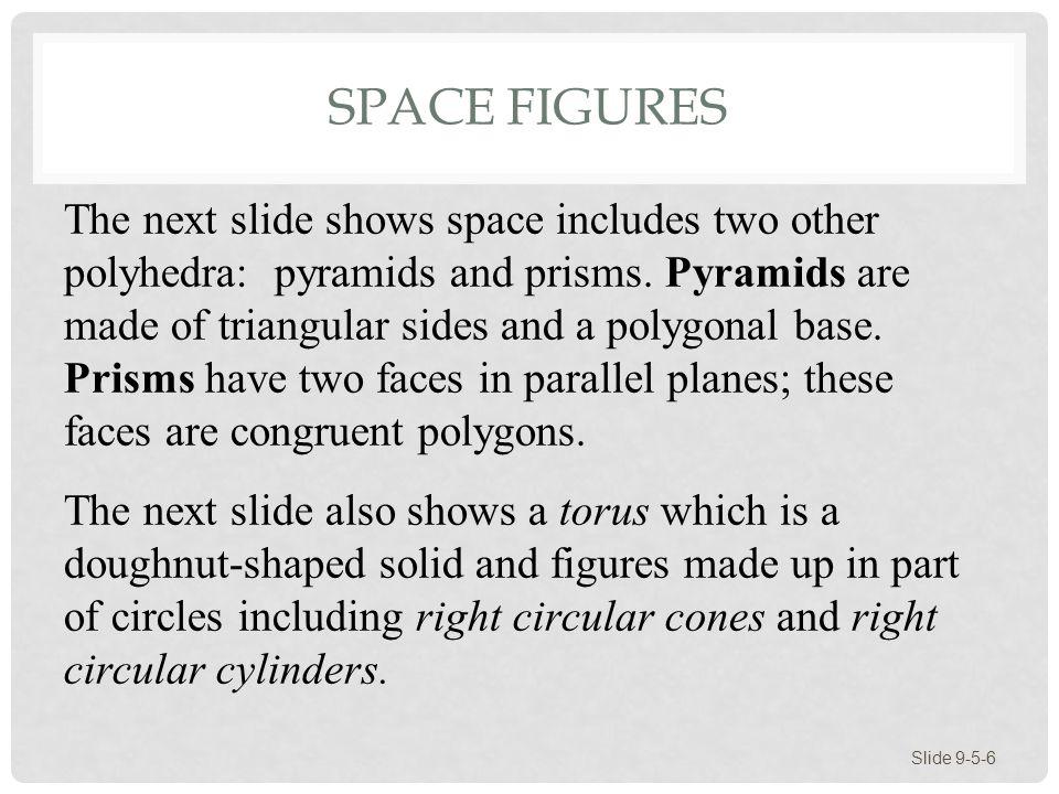 SPACE FIGURES Slide 9-5-7