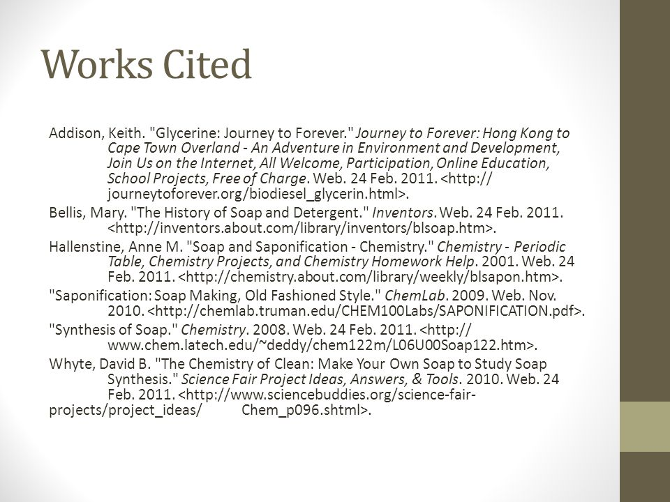 Works Cited Addison, Keith.