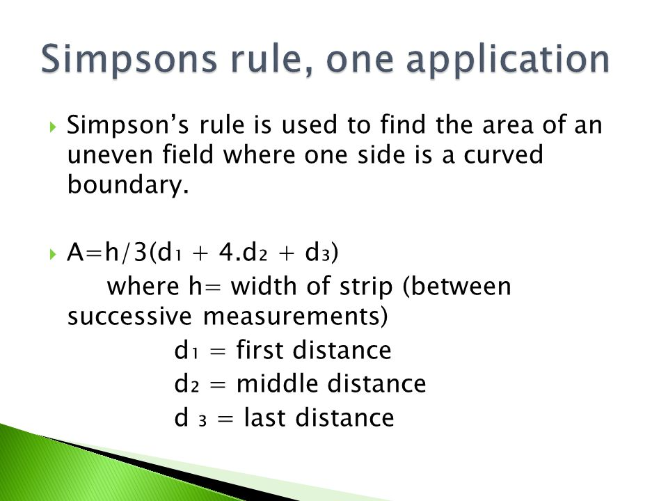  You can either do two or more separate applications or you can put the first and last in brackets and then 4 times the even slotted distances and 2 times the odd slotted distances.