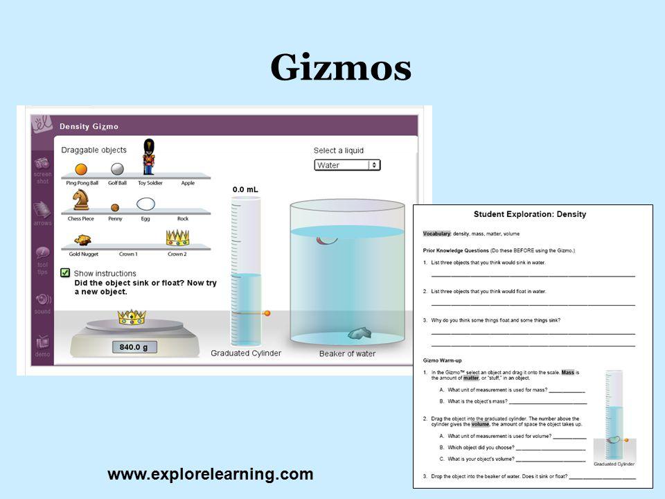 Gizmos www.explorelearning.com