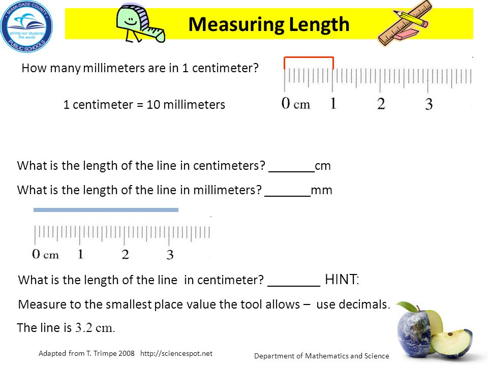 Department of Mathematics and Science Metric Units What are the metric units for measuring length or distance ? Units include the meter, centimeter an