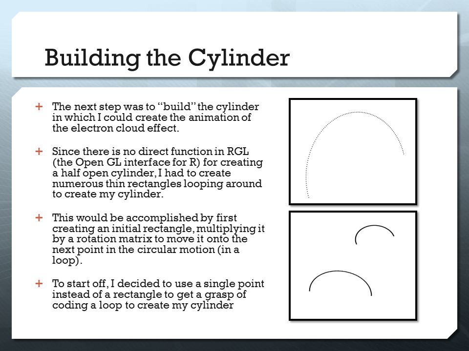 The Cylinder  Substituted rectangles for points and then built the cylinder.