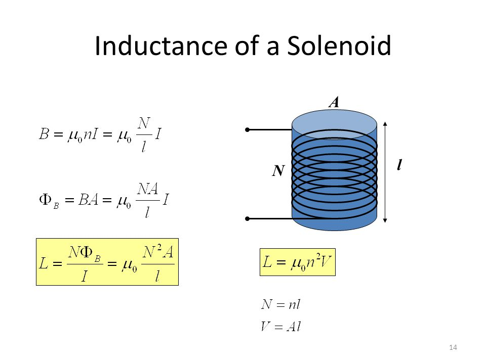 Inductor has a large inductance (L) and consist of closely wrapped coil of many turns Inductance can be interpreted as a measure of opposition to the