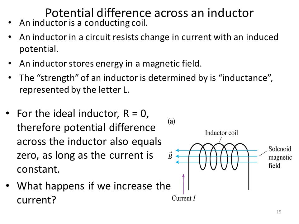 Inductance of a Solenoid l N A 14