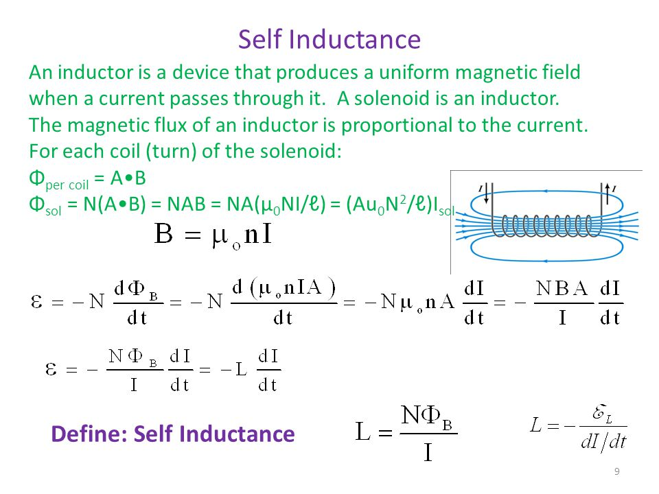 Example The same solenoid is now filled with an iron cores (  = 4000  0 ).