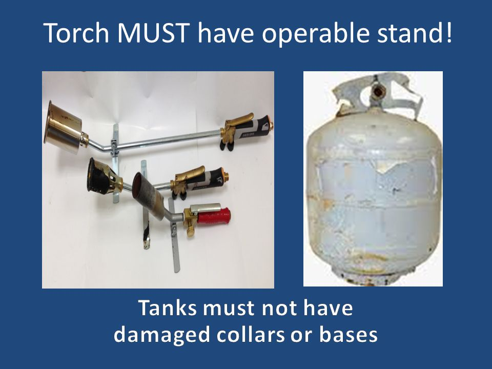 Torch MUST have operable stand!