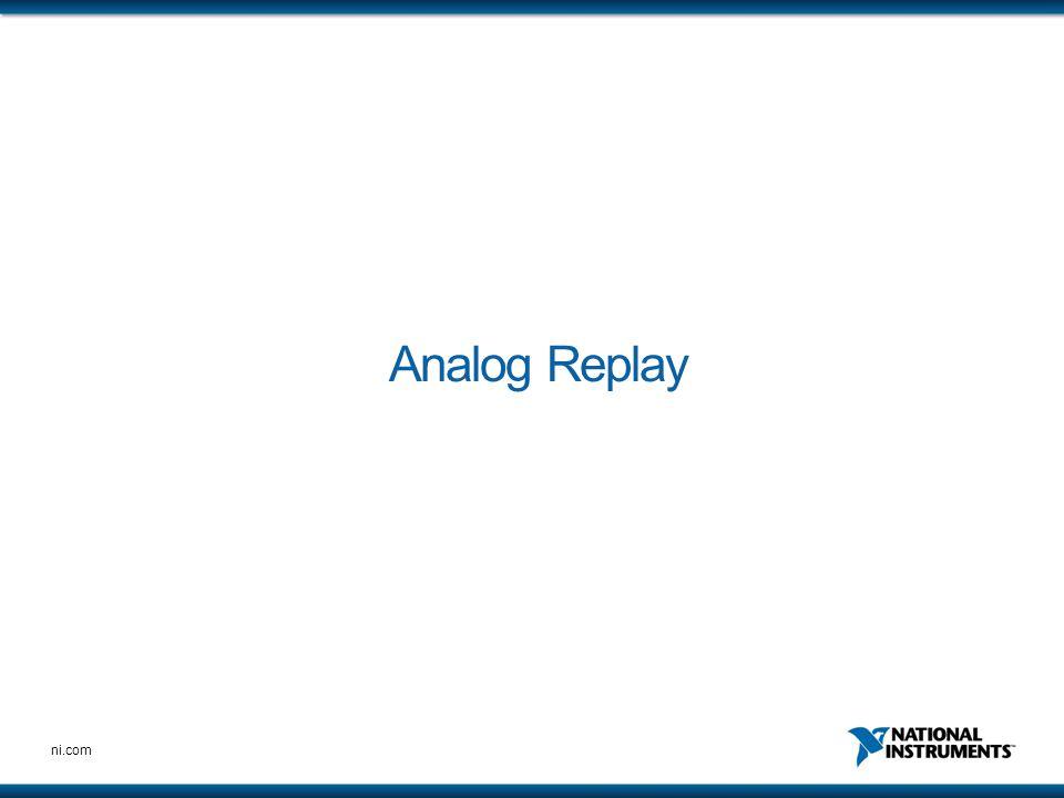 ni.com Analog Replay