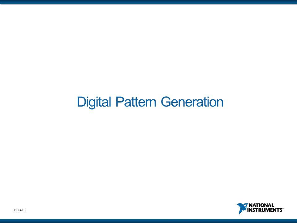 ni.com Digital Pattern Generation