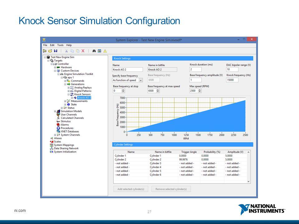 27 ni.com Knock Sensor Simulation Configuration