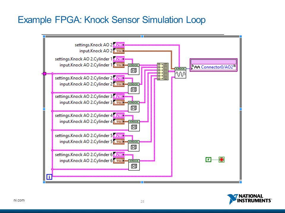 28 ni.com Example FPGA: Knock Sensor Simulation Loop