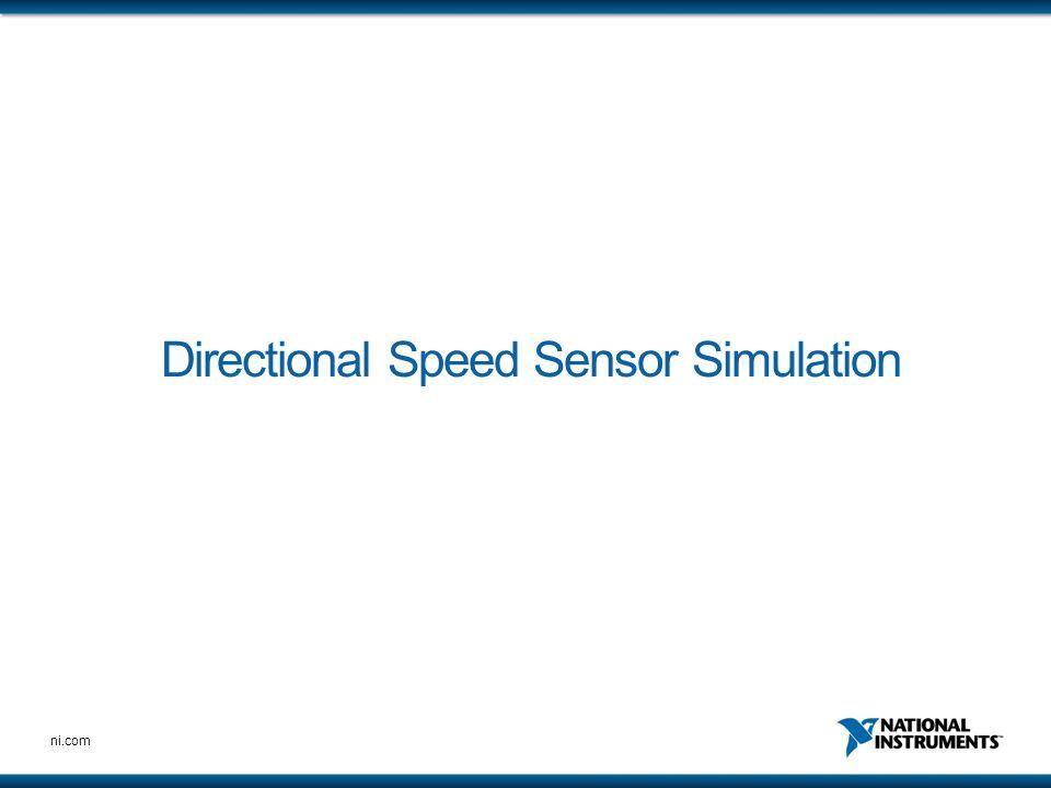 ni.com Directional Speed Sensor Simulation