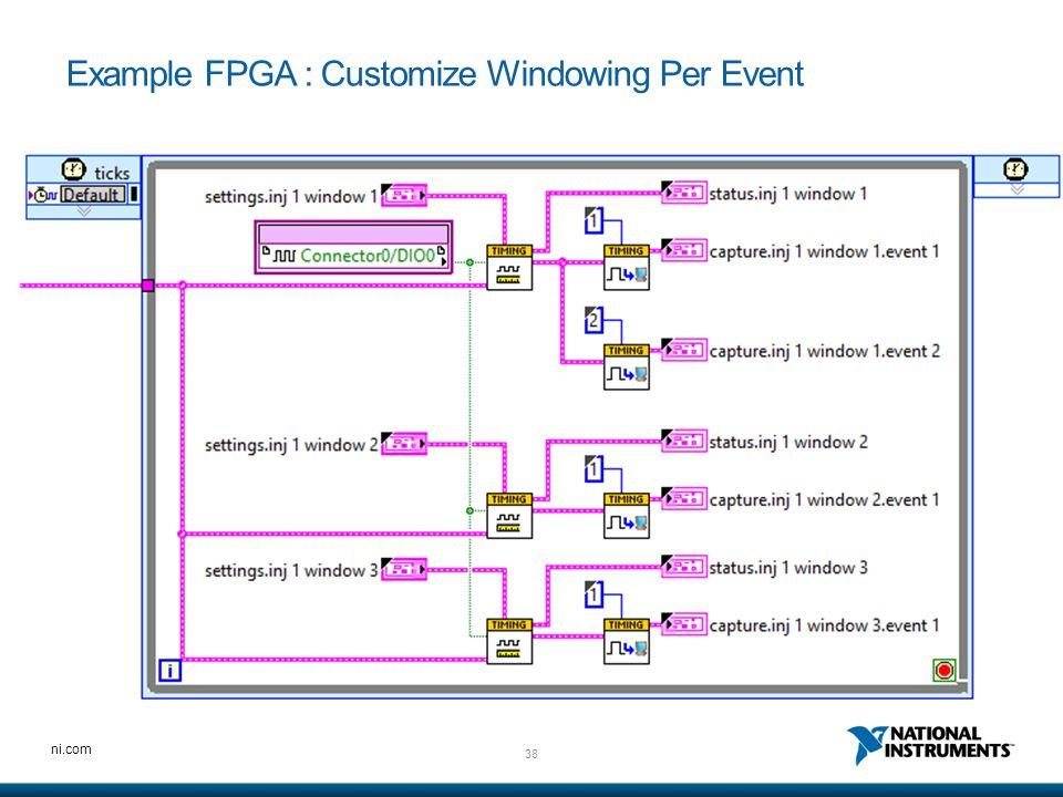 38 ni.com Example FPGA : Customize Windowing Per Event