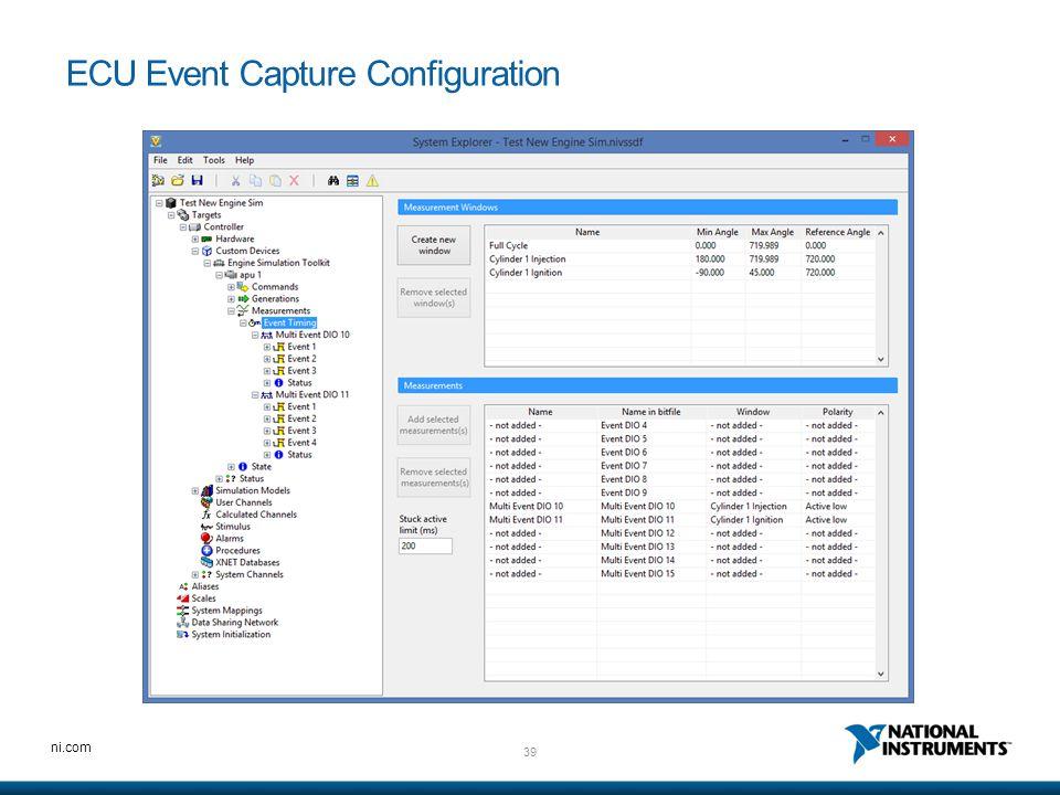 39 ni.com ECU Event Capture Configuration