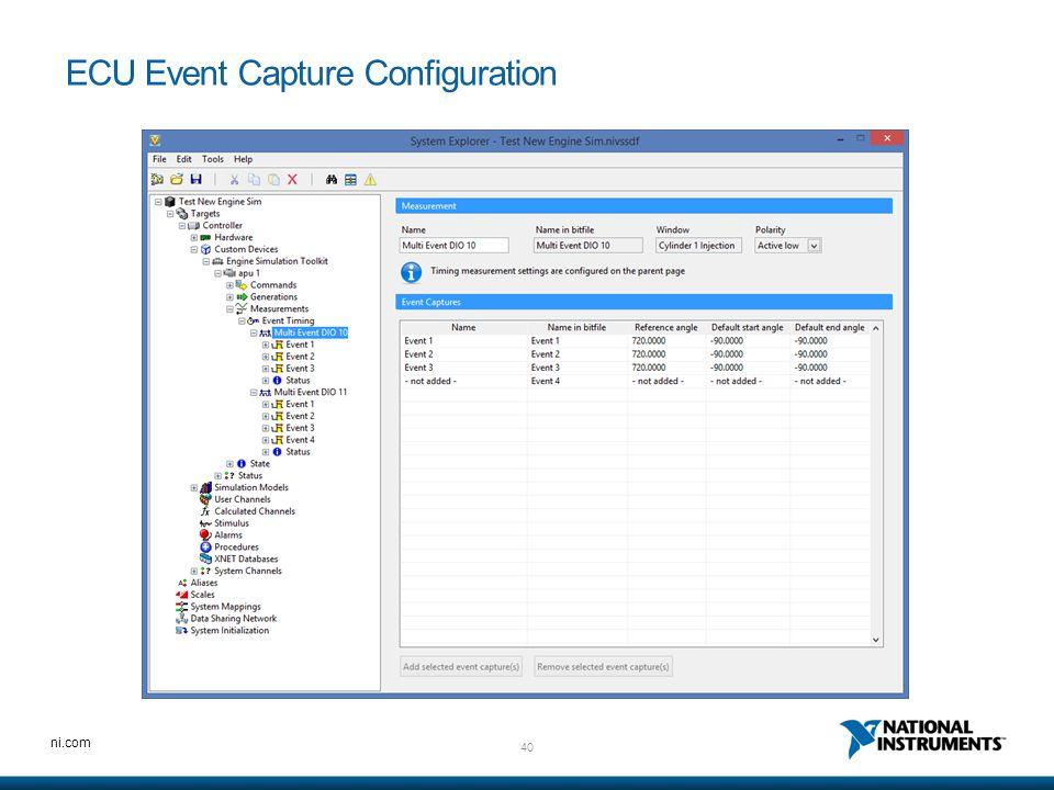 40 ni.com ECU Event Capture Configuration