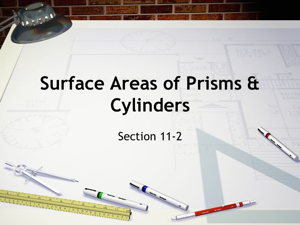 Surface Areas of Prisms & Cylinders Section 11-2