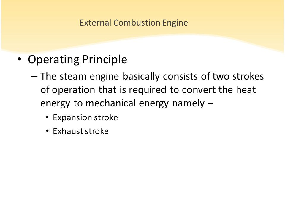 Efficiency of Heat Engine Efficiency of an engine is defined as the fraction of heat that is converted to useful mechanical work It is usually represented as percentage Efficiency of petrol engine is about 40% Efficiency of steam is about 15 % Heat Supplied Work Done Efficiency =X100