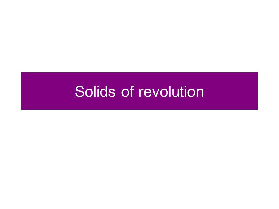 Solids of revolution
