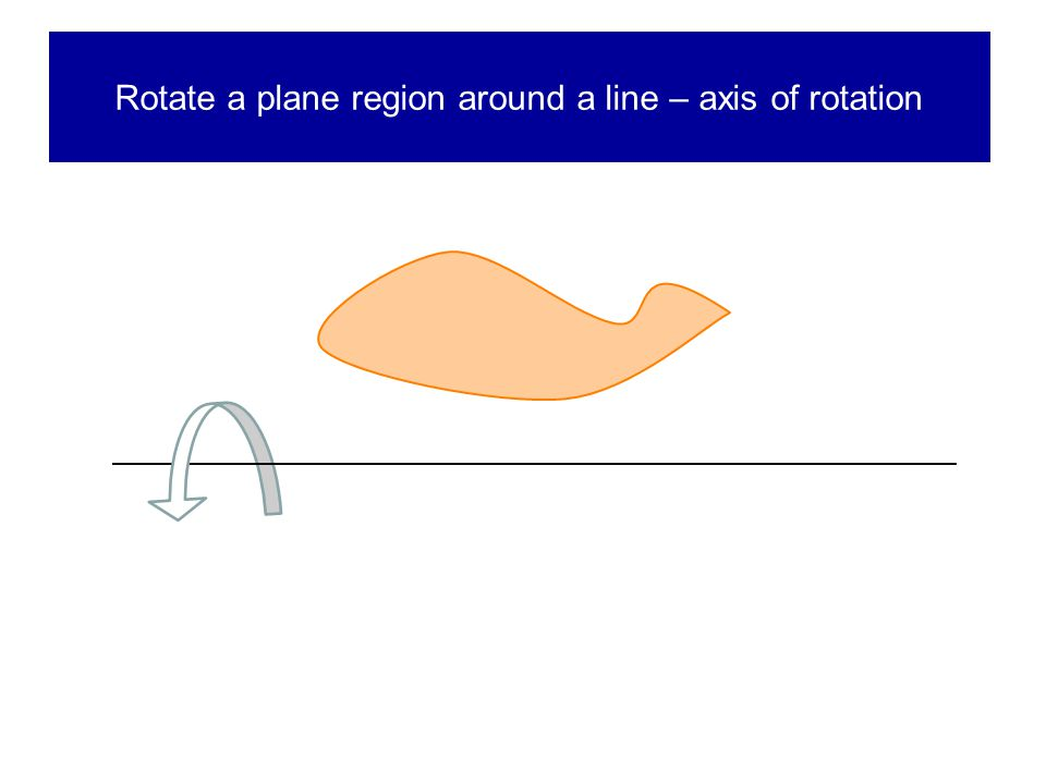 Rotate a plane region around a line – axis of rotation