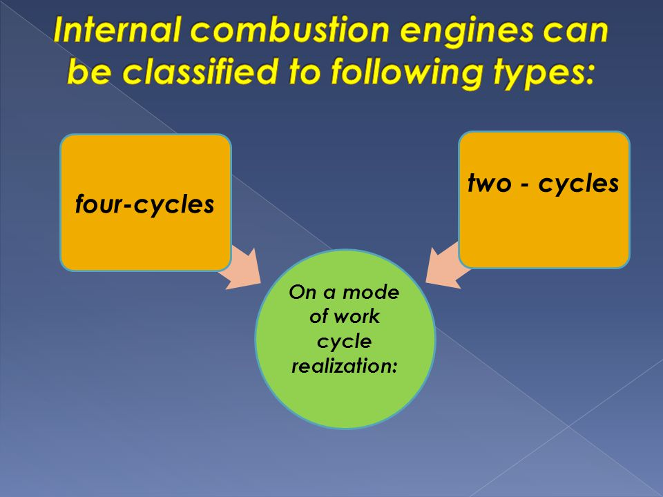 On a mode of work cycle realization: four-cycles two - cycles