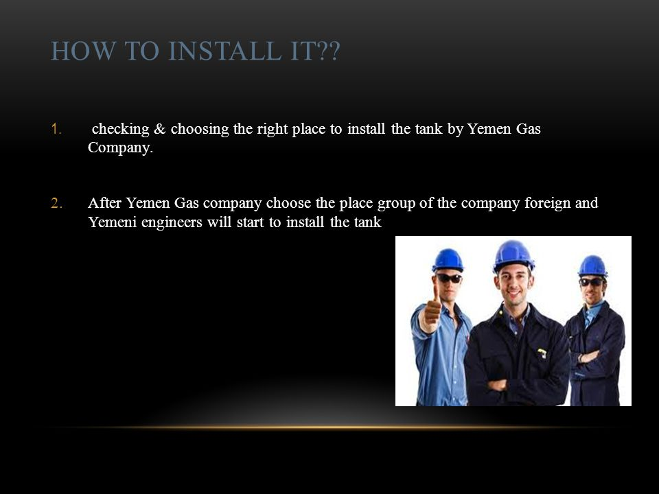 HOW TO INSTALL IT . 1.