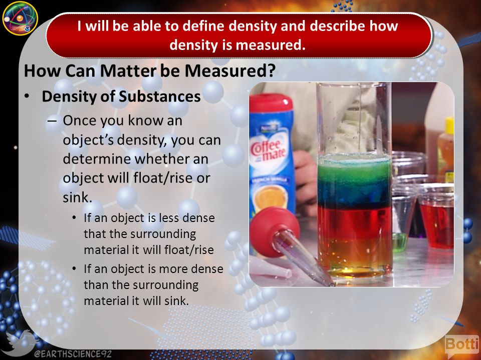 How Can Matter be Measured.