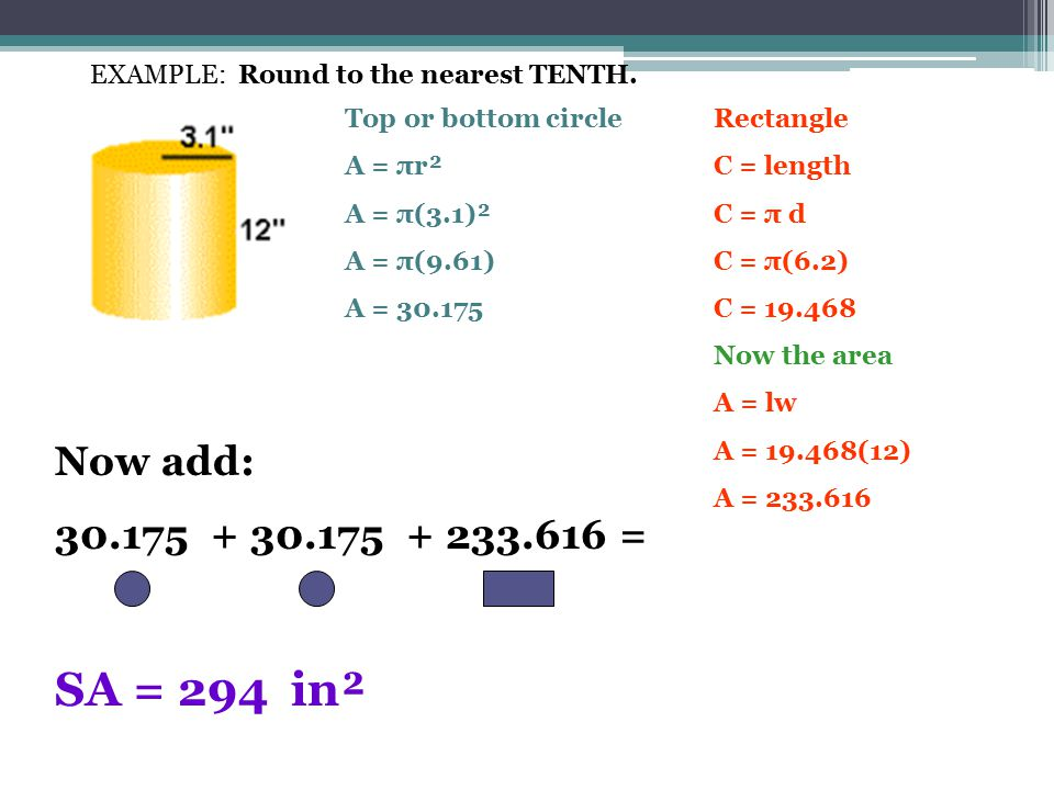 EXAMPLE: Round to the nearest TENTH.