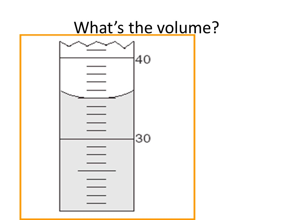 What's the volume?