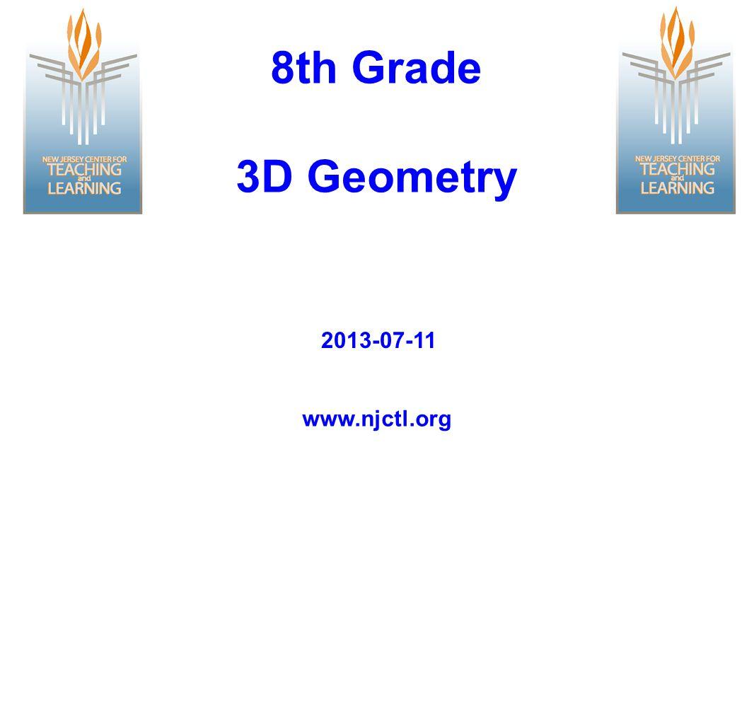 8th Grade 3D Geometry www.njctl.org 2013-07-11