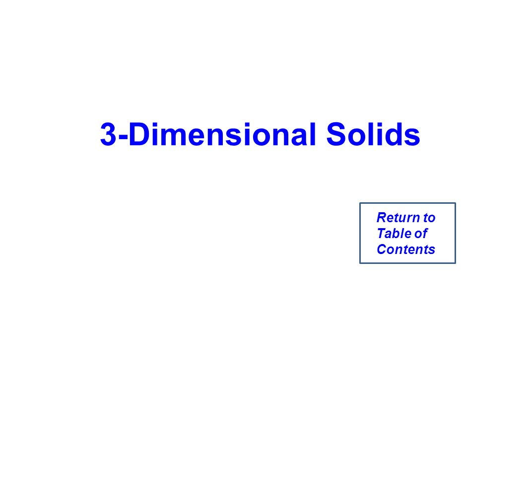 3-Dimensional Solids Return to Table of Contents