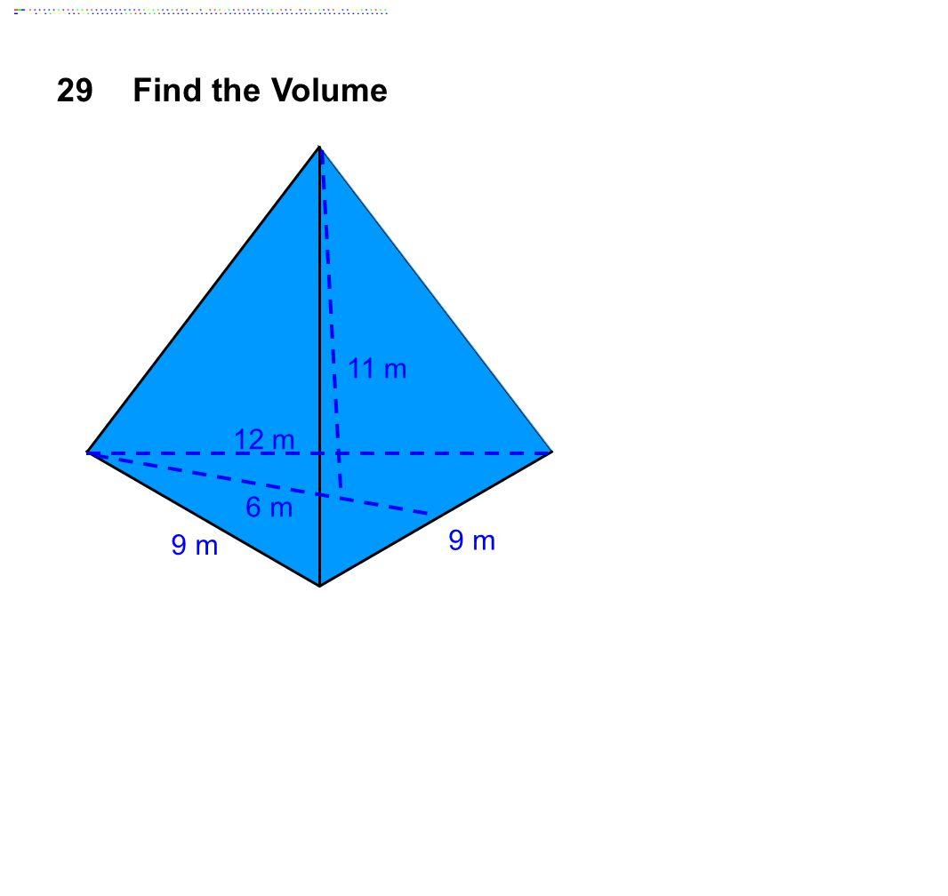 29Find the Volume 9 m 12 m 11 m 6 m