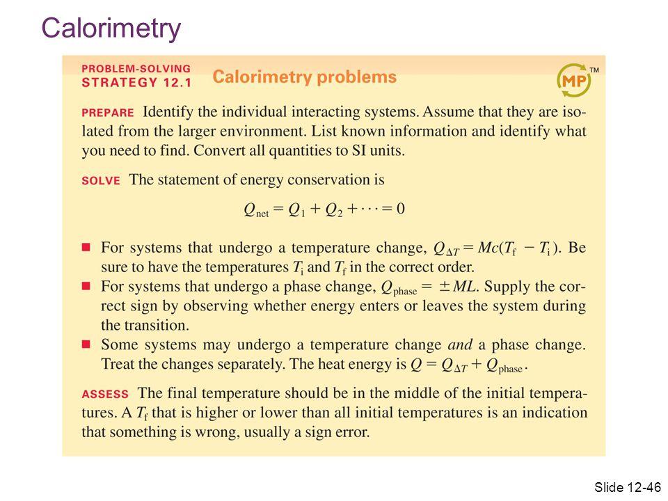 Calorimetry Slide 12-46
