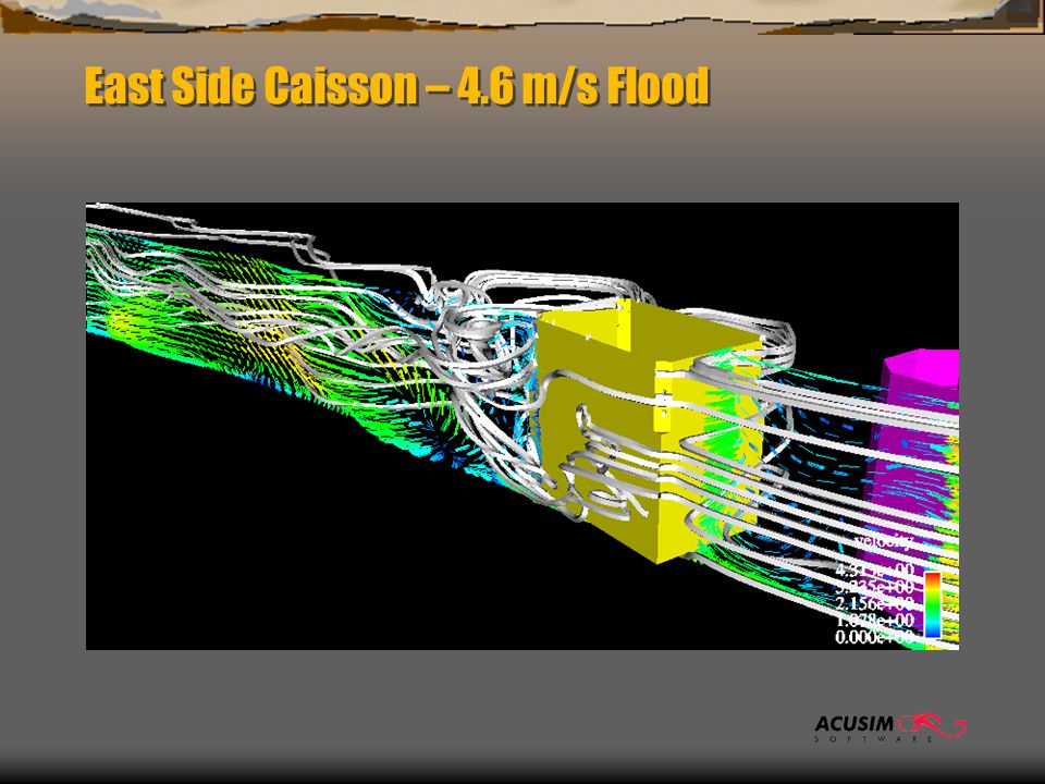 East Side Caisson – 4.6 m/s Flood